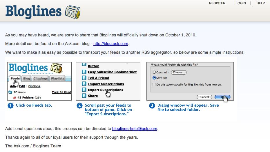 Bloglines not updating 2008